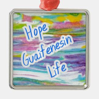 Fibromyalgia Awareness Silver-Colored Square Ornament