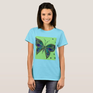 Fibromyalgia Butterfly T Shirt in Blue