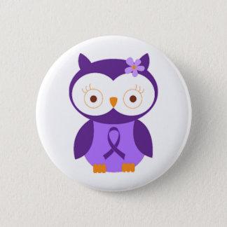 Fibromyalgia Owl 2 Inch Round Button