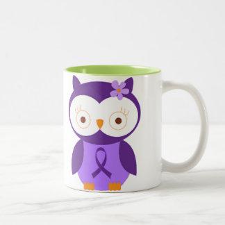Fibromyalgia Owl Two-Tone Coffee Mug