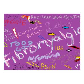 Fibromyalgia Symptoms Postcard