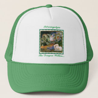 """Fibromyalgia, The Dragon Within..."" Trucker Hat"