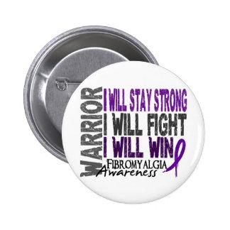 Fibromyalgia Warrior 2 Inch Round Button
