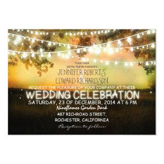 ficelle de faire-part de mariage rustique de carton d'invitation  12,7 cm x 17,78 cm