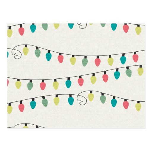 Ficelle de Noël de motif de lumières Cartes Postales