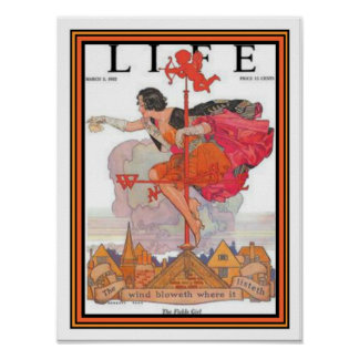 """Fickle Girl"" Art Deco Life Cover 12 x 16 Poster"