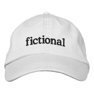 fictional embroidered baseball cap