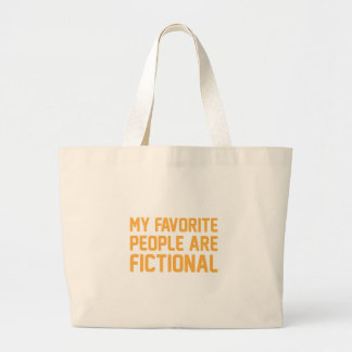Fictional People Large Tote Bag