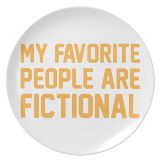 Fictional People Plate