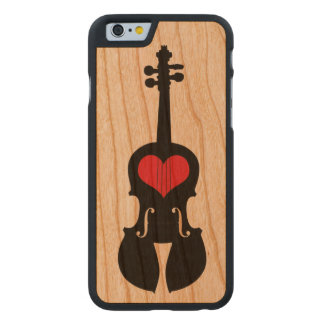 Fiddle Cell Phone Case-Wood Carved® Cherry iPhone 6 Case