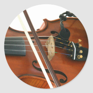 Fiddle Classic Round Sticker