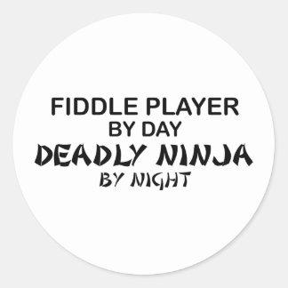 Fiddle Deadly Ninja by Night Classic Round Sticker