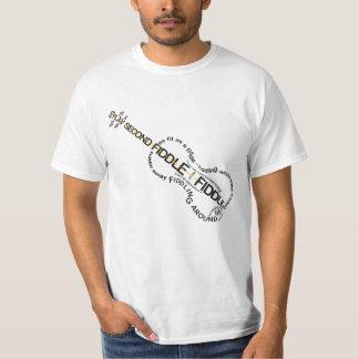 Fiddle Expressions Word Art Violin Shape T-Shirt
