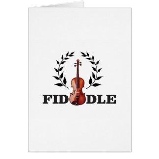 fiddle in black card