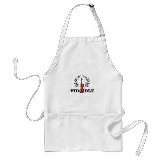 fiddle in black standard apron