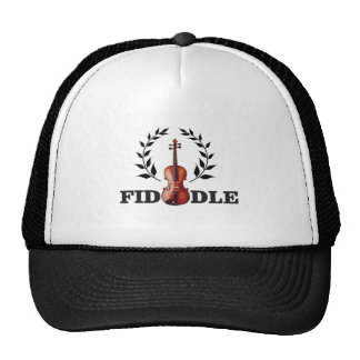 fiddle in black trucker hat