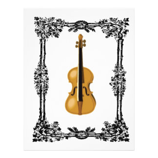fiddle in the middle of frame customized letterhead