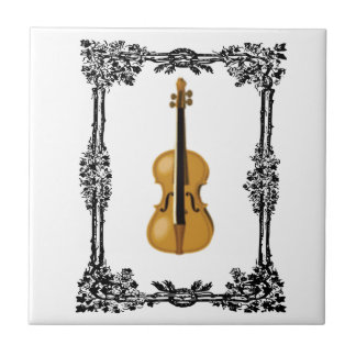 fiddle in the middle of frame tile