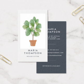 Fiddle Leaf Fig | Home Services Business Card
