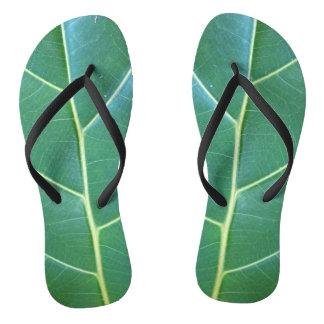 Fiddle Leaf Fig Patterned Flip Flops