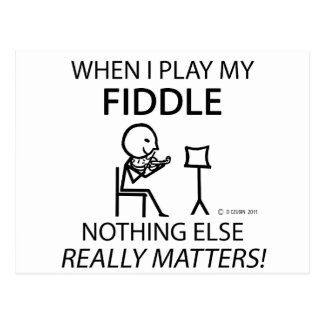 Fiddle Nothing Else Matters Post Card