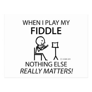 Fiddle Nothing Else Matters Postcard