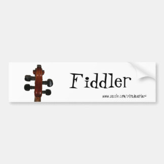 Fiddle Scroll Bumper Sticker