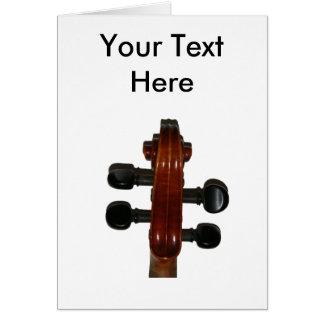 Fiddle Scroll Card