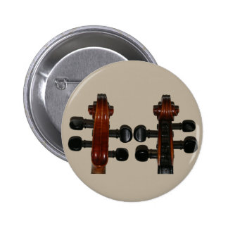 Fiddle Scrolls Front & Back 2 Inch Round Button