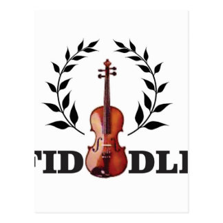 fiddle seal fun postcard