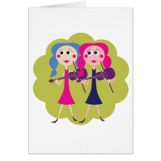 Fiddle Twins Note Cards