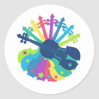 fiddlefun classic round sticker