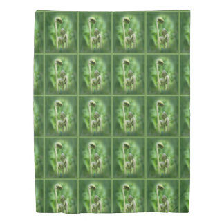 Fiddlehead Ferns Nature Pattern Duvet Cover