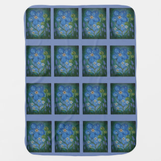 Fiddleheads and Forget-Me-Nots Baby Blanket