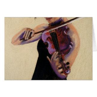 Fiddler Girl (ME) Card