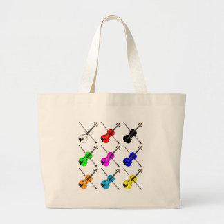 Fiddles Large Tote Bag