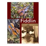 fiddlin fanatic postcard