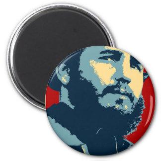 Fidel Castro - Cuban Revolution President of Cuba 2 Inch Round Magnet