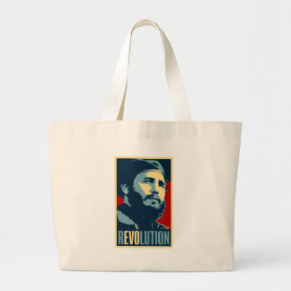 Fidel Castro - Cuban Revolution President of Cuba Large Tote Bag