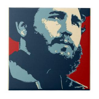 Fidel Castro - Cuban Revolution President of Cuba Tile