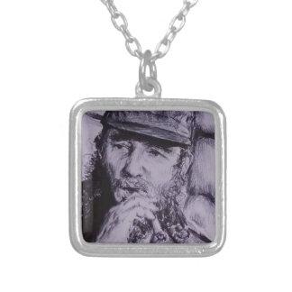 Fidel Castro Silver Plated Necklace
