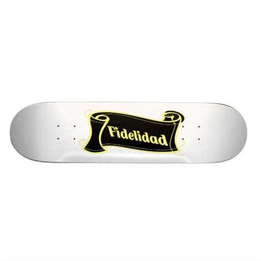 Fidelidad - loyalty writing volume kind Deco Fanta Skateboard Deck