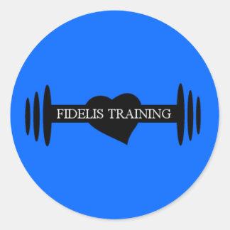 Fidelis Training Round Sticker