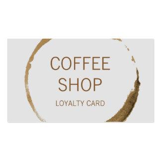 Fidélité de café-restaurant carte de visite standard
