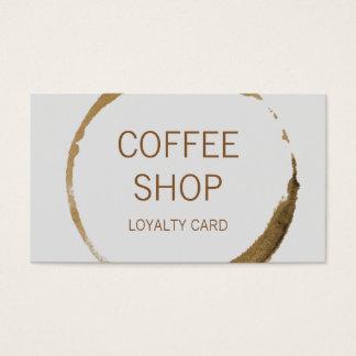 Fidélité de café-restaurant cartes de visite