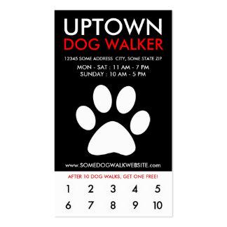 fidélité de la ville haute de marcheur de chien cartes de visite professionnelles