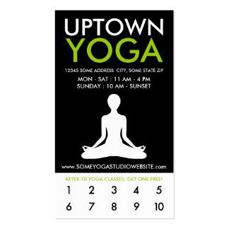 fidélité de la ville haute de yoga carte de visite standard