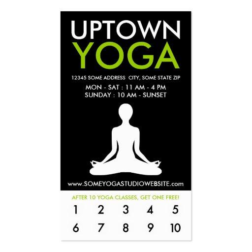 fidélité de la ville haute de yoga cartes de visite professionnelles