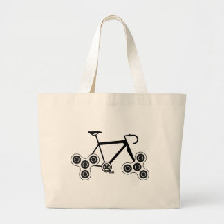 Fidget Spinner Bike Large Tote Bag
