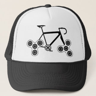 Fidget Spinner Bike Trucker Hat